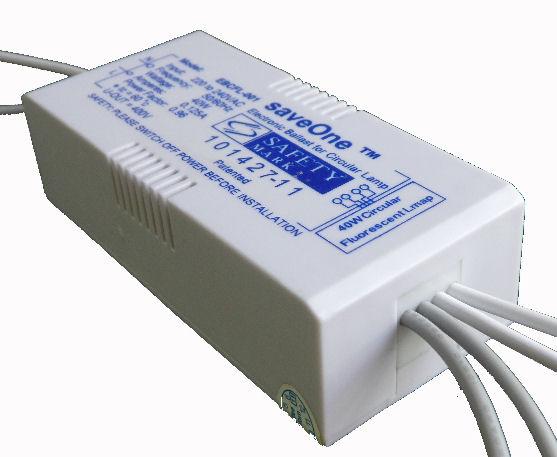 electronic ballast for straight fluorescent tube
