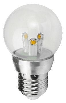 E14 Chandelier Bulb 3W (round bulb shape)
