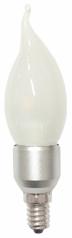 E14 Chandelier Bulb 3W (flame tip shape, frost)