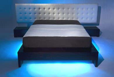 Bed LED Strip Blue Lighting